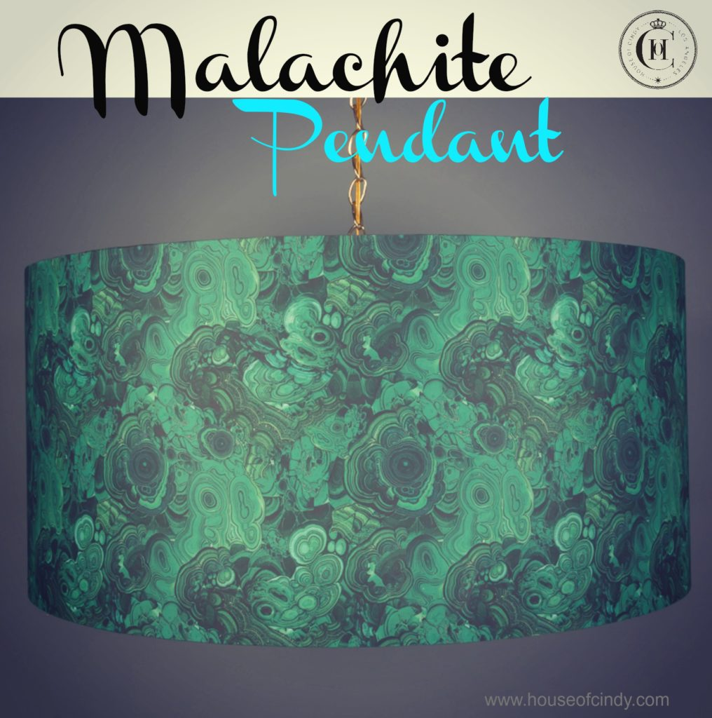 Malachite Pendant Light www.houseofcindy.com
