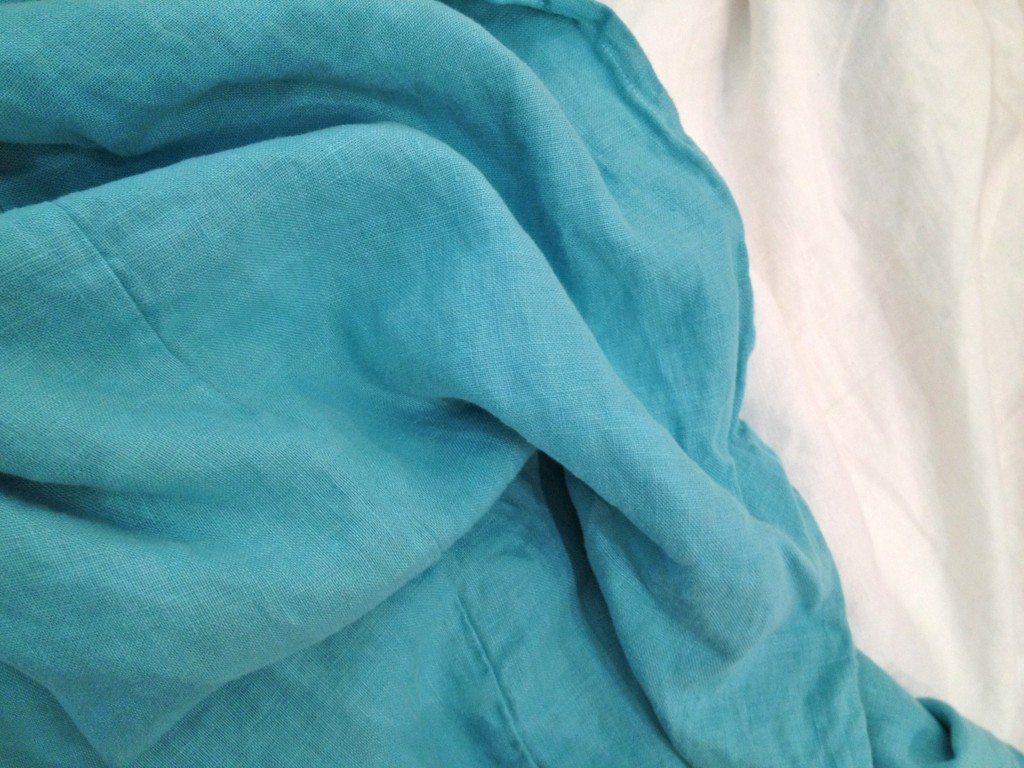 Aqua Luscious Linen Duvet www.houseofcindy.com
